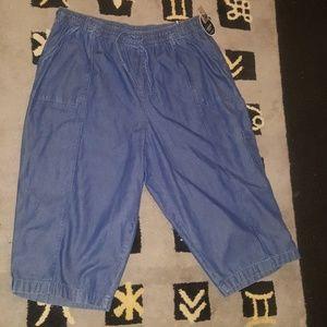 Bogo Karen Scott Comfort waist cargo capris